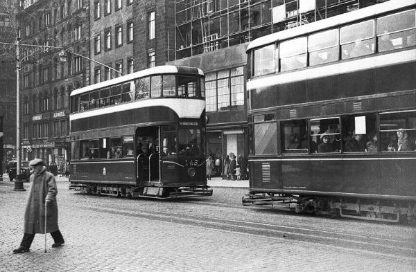 Image result for edinburgh trams 1950